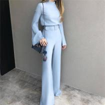 Solid Color Hot Style Jumpsuit Wide-Leg Pants