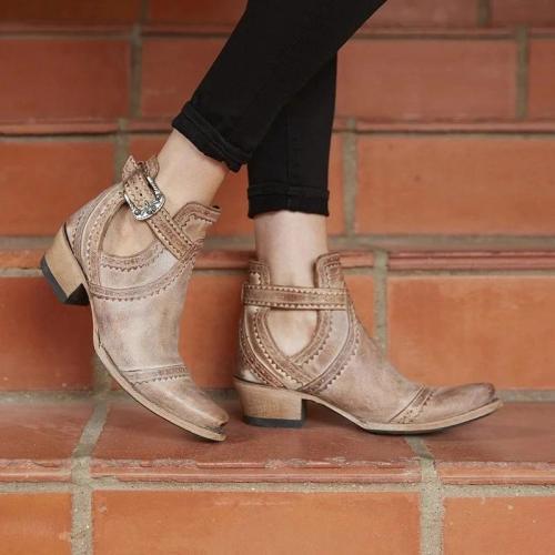 Women's Casual Chunky Heel Boots
