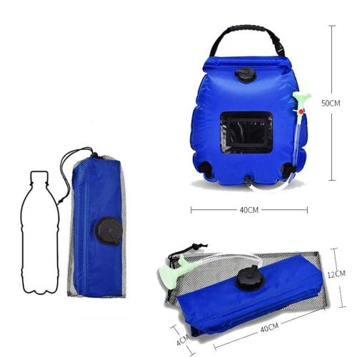 Water Bag 20L Solar Outdoor Shower Bag Portable Camping Shower Heating Hiking Waterzak With Hose For Camp