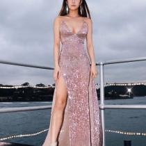 Fashion Sexy Sequin Evening Dress