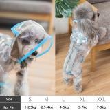New Cute Dog Raincoat Small Dog Clothes Pet Costume Spring Reflective Dog Waterproof Clothes Dinosaur Design Rain Coat