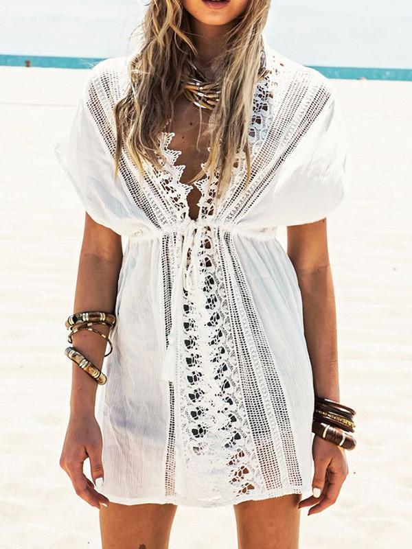 White Lace Mini Cover-up Swimwear