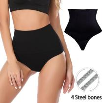 Women's Shapewear Brief Butt Lifter Firm Control Panties Thong Seamlesss Waist Trainer Body Shaper Tummy Pulling Fajas Underwear