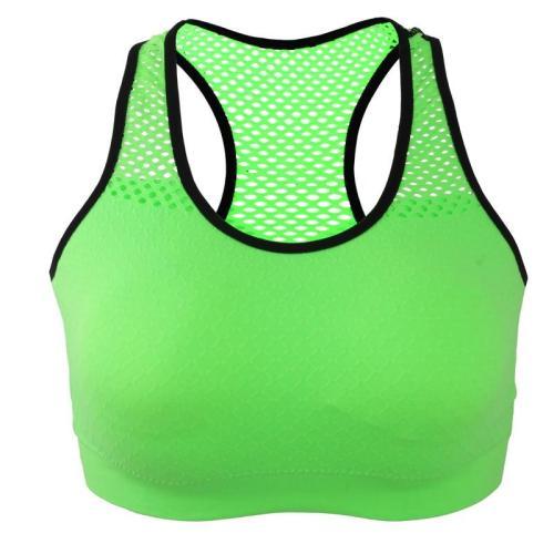 EBUYTIDE Women Sports Bra Mesh Breathable Quick Dry Sports Tops Bras Push Up Supporting Shookproof Female Gym Bra Fitness Sport Underwear