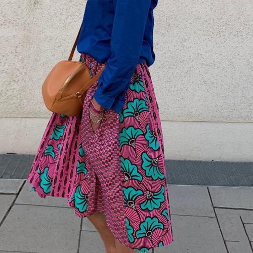 Women's Casual Fashion Print Skirt RY58
