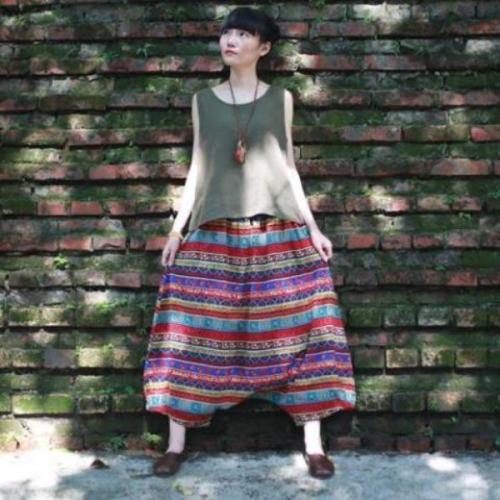 Colorful Stripes Harem Pants