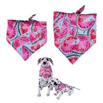 2020 Watermelon Scarfs Dog Bandana Reversible Pet Bandanas Accessories Bibs Kerchief Set  for Summer Small Medium Dogs  #1