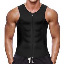 2020 New Men Waist Trainer Vest for Weightloss Hot Neoprene Corset Fat Burning Body Shaper Zipper Shapewear Slimming Belt Belly