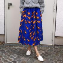 Casual Women Printed Loose Skirt RY58