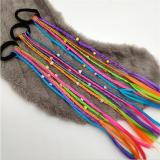 1pc Children Wig Braids Multi-color Mini Clip Kids Elastics Hair Bands Girl Cute Hair Accessories Korean Style Hair Rope