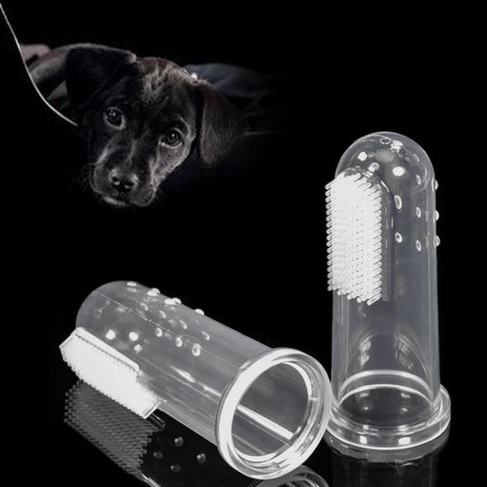 5pcs  Super Soft Pet Finger Toothbrush Teddy Dog Brush Dog Cat Cleaning Supplies Addition Bad Breath Tartar Teeth Care