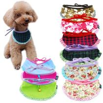 Dog Cat Bandana Plaid Adjustable Scarf Washable Strap Collar  for Cats Puppy Pet Accessories for Small Medium Large Dog Supplies