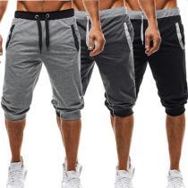 New Summer Running Shorts Men Sports Jogging Fitness Shorts Sports Suit Beaching Briefs Swimwear Mens Workout Short Pants
