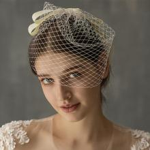 Women Elegant Bridal Hats and Fascinators Net Wedding Veil Headpiece With Comb Bridal Party Gifts 2020