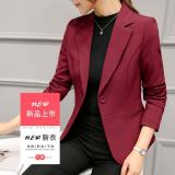 One Button Notched Collar Long Sleeve Blazers For Women Suit Autumn Winter Office Work Slim Jacket Casual Blazer Coat Female