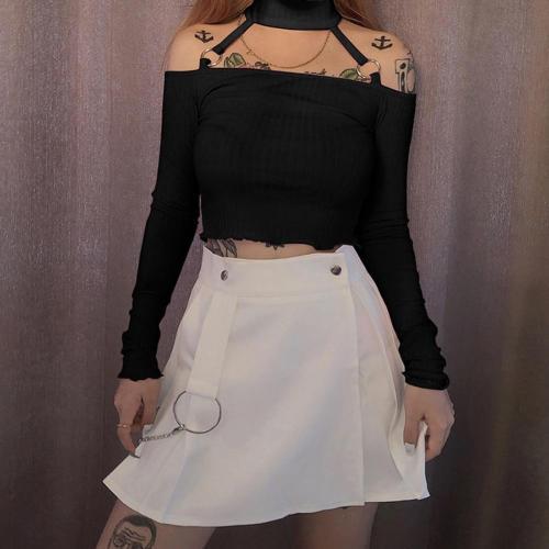 E-girl Off Shoulder Crop Tops Y2K T Shirts