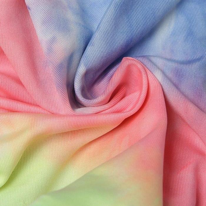 2020 New Women Yoga Pants Tie-Dye Drawstring High Waist Sweatpants Rainbow Print Shorts For Home Gym Workout Sports