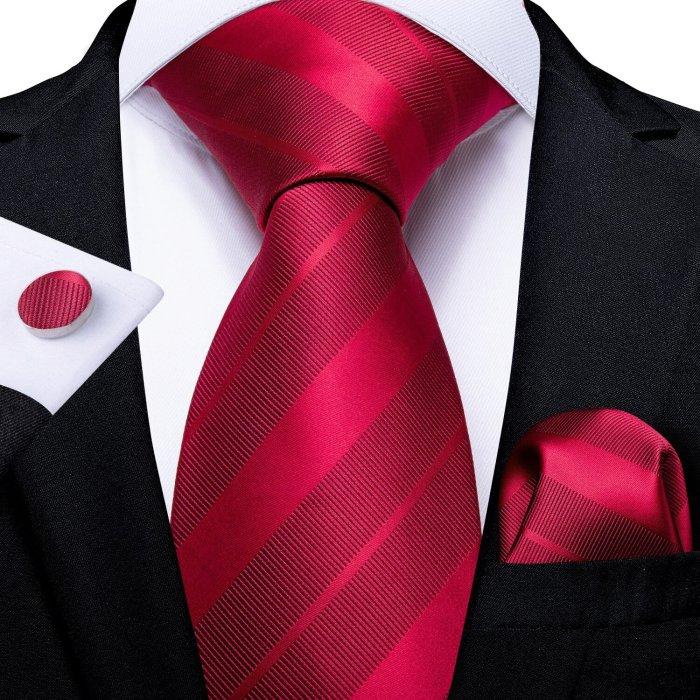 EBUYTIDE Men Tie Red Wine Paisley Design Silk Wedding Tie For Men Hanky Cufflink Tie Set Fashion Bussiness Party Dropshipping