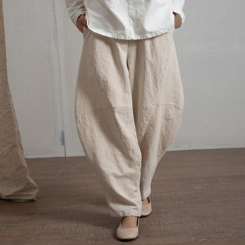 Cotton and Linen Wide Leg Harem Pants