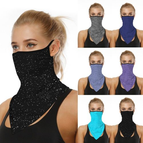 Mouth women Mask Lightweight Face Mask Scarf Sun Protection Mask Outdoor Riding Masks Protective Silk Scarf bandana Handkerchief