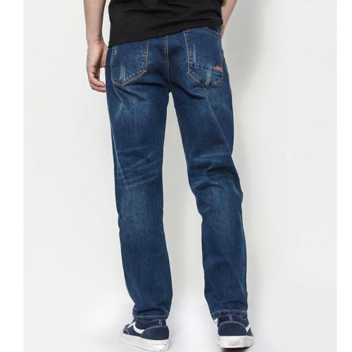 Retro Jeans Simple Slim Trousers Loose Casual Pants
