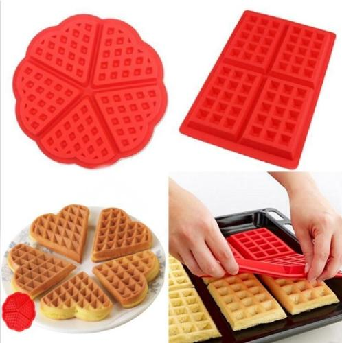 Kitchen Waffle Mold Non-stick Cake Mould Makers Kitchen Silicone Waffle Bakeware