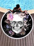 Cool Skull Cycle Beach Mat