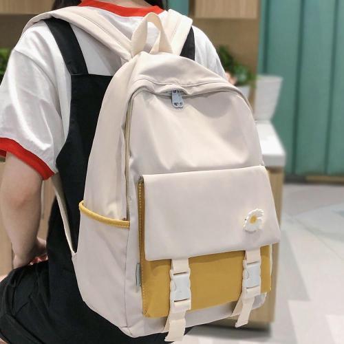 Girl Student College Kawaii Backpack Women Fashion Book School Bag Flower Nylon Buckle Backpacks Cute Female Harajuku Bag Ladies