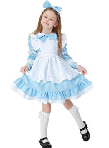 Kids Princess Lolita Dress Costumes Hollowen
