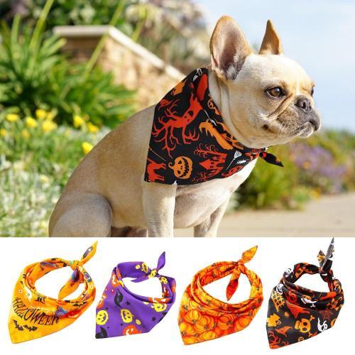 Dog Halloween Collar Bandana Halloween Pet Neckerchief Scarf Neck Scarf for Medium Dogs Cats Grooming Accessories for Pets