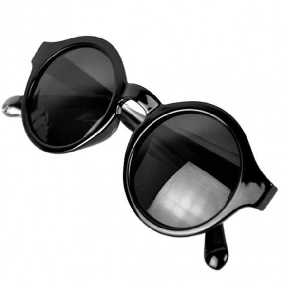 New Super Trendy Retro Round Frame Sunglasses Eyewear UV 400 Unisex Plate Frames