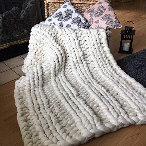 Chunky Knit Throw Blanket