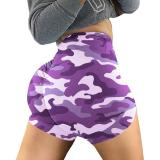 2020 Newest Hot Women High Waist Summer Camouflage Sports Fitness Shorts Gym Yoga Tights Running Exercise Short Sexy Women Short