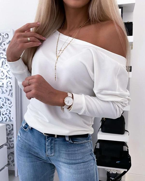 V Neck Button Back Top
