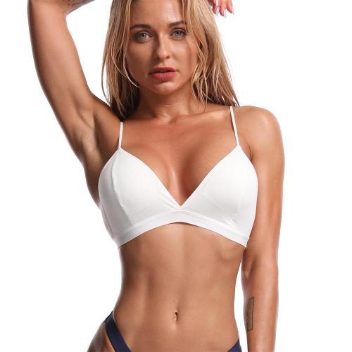 EBUYTIDE Women Seamless Bras Top Push Up Sports Bra Underwear Backless Bralette Sexy Lingerie Sportswear Brassiere Wireless Triangle Cup
