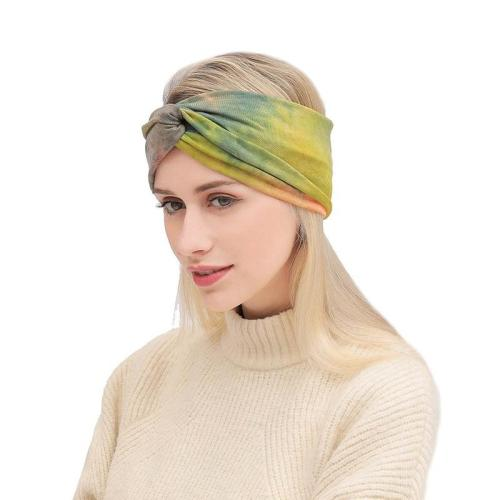 Fashion Bandana Cotton Hairbands Women Girls Tie Dye Headband Cross Knot Bohemian Female Wide Headwrap Twist Turban Hair Hoop