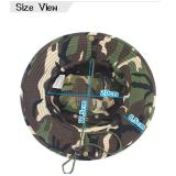Men Women's Outdoor Wide Brim Sun Hat Side Snap Chin Cord Fishing Hiking Cap Camouflage Boonie Safari Summer Jungle Hunting Hats