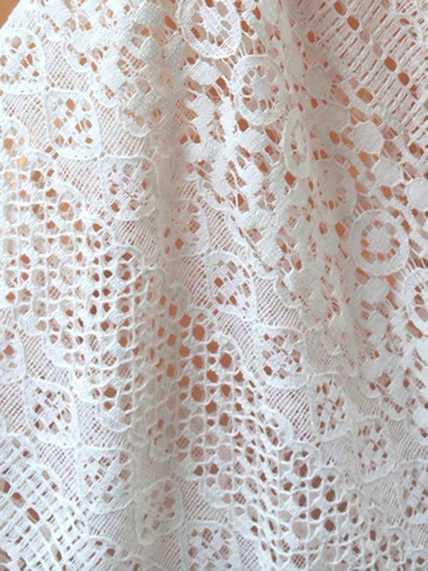 Halterneck Crocheted Mini Cover-Up Beach Wrap Dress