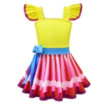 Fancy Nancy Costume Dress Up Gown Fun Play for Girls Clothes with Mask