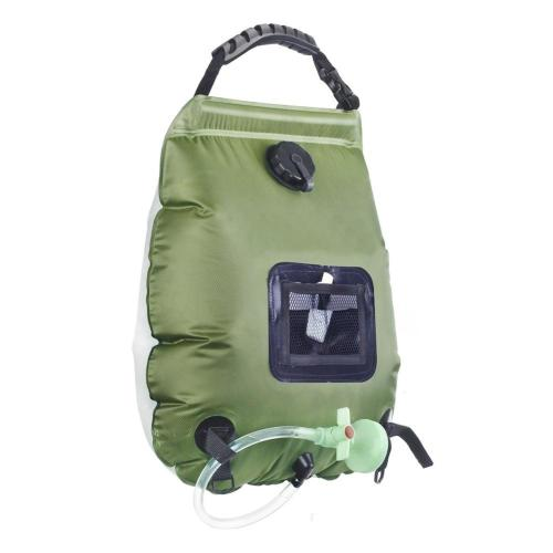 Water Bags For Outdoor Camping Hiking Solar Shower Bag 20L Heating Camping Shower Bag Hose Switchable Shower Head Dropship 2020