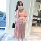 Casual Long Pregnancy Dresses For Women Short Sleeve Loose Maternity Dresses Summer New Chiffon Pregnant Dress Maternity Clothes