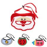 Knitting Pet Dog Cat Bandana Neck Ornament Bibs Scarf Washable Pet Scarves For Christmas Gift A