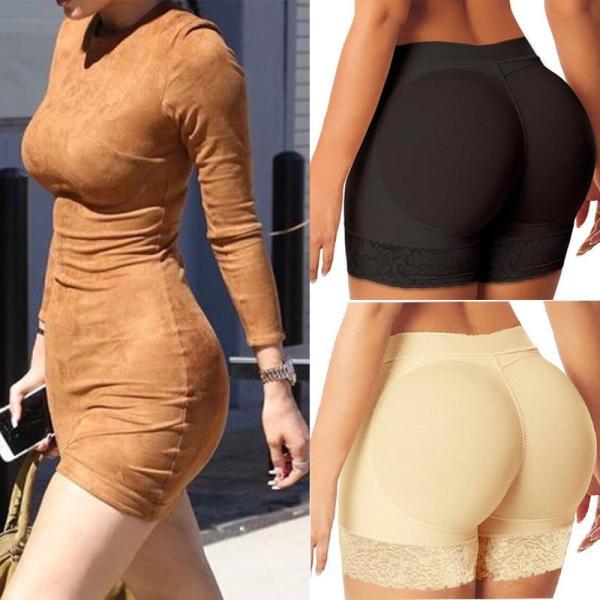 Women Butt and Hip Enhancer Booty Padded  Butt Lifter Underwear Tummy Body Shapers Control Panties Boyshorts Shapewear