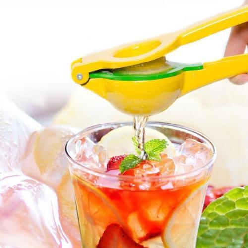 EBUYTIDE High Quality Enameled Aluminum Double Bowl Lemon Squeezer, Manual Citrus Press Juice