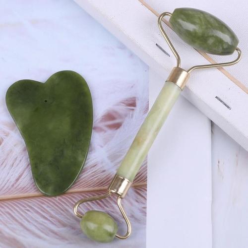 Facial Roller Natural Jade Quartz Face Jade Stone Roller Beauty Massage Tool Face Lift Massager Dropshipping