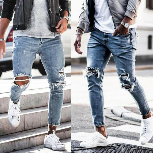 Casual Tight-Fitting Trousers Jeans