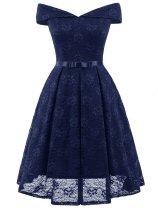 1950s Lace Off Shoulder Dress
