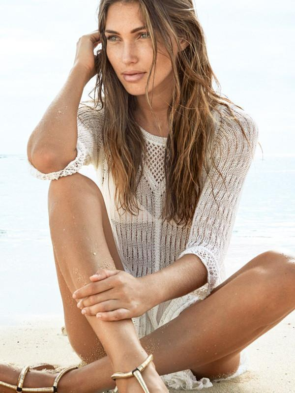 Sexy Hollow 3/4 Sleeve Beach Cover-up Tops