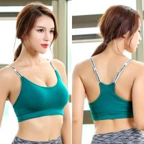 EBUYTIDE Sports Bras Push Up Women Underwear Fitness Running Yoga Bra Ladies Letters Sport Tops Jogging Gym Women Sportswear Tops Bra