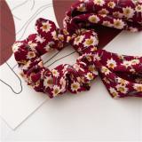 2020 Bohemian Scarf Bow Floral Printed Ribbon Bow Hair Scrunchies Women Elastic Hair Bands Ponytail Scarf Hair Ties Accessories